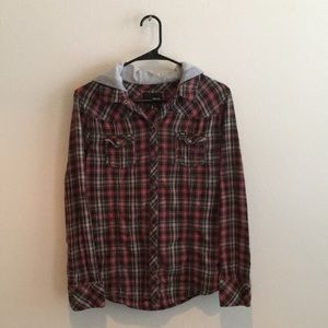 🍂 Hurley Distressed Used Size L Juniors Top 🍂